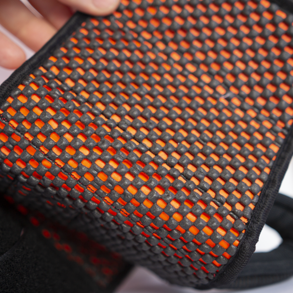 interior foam mesh fabric which is non slip but soft to the touch