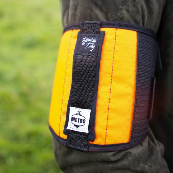 the orange metro tag. this has a soft flush handle, rather than the extended rope interior handle of the original ramble tag.