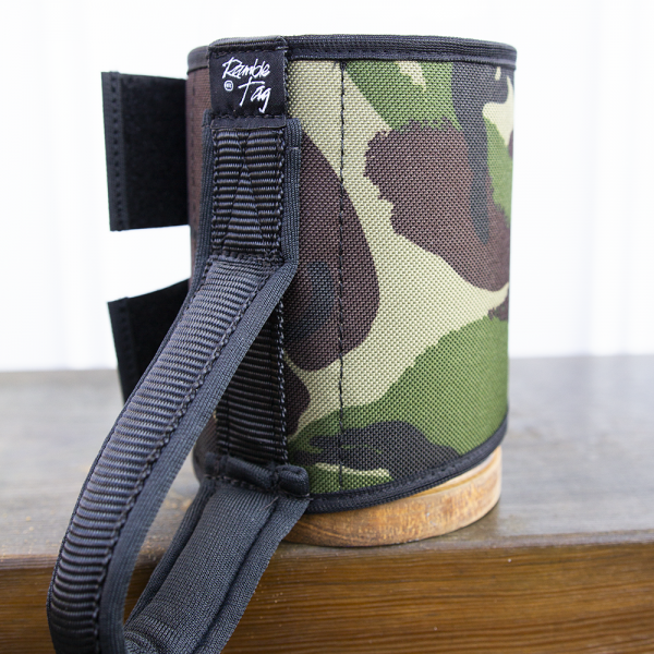 the green and brown camouflage original loop handle ramble tag